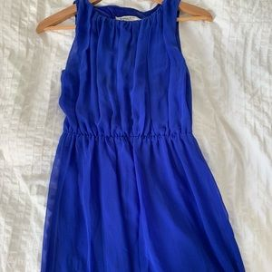 Dresses & Skirts - Royal blue chiffon bridesmaid or wedding dress